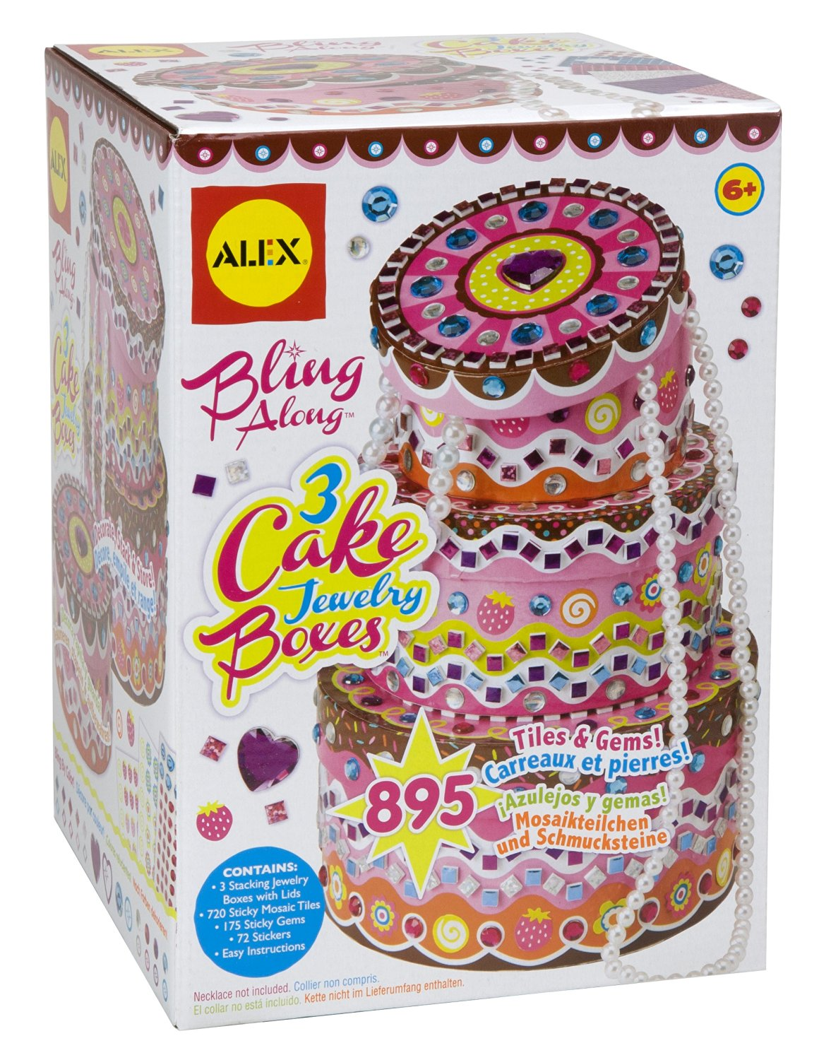 ALEX Toys Craft Bling Along 3 Cake Jewelry Boxes