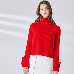 OEM knit pullover plain women's turtleneck sweater cashmere knitwear