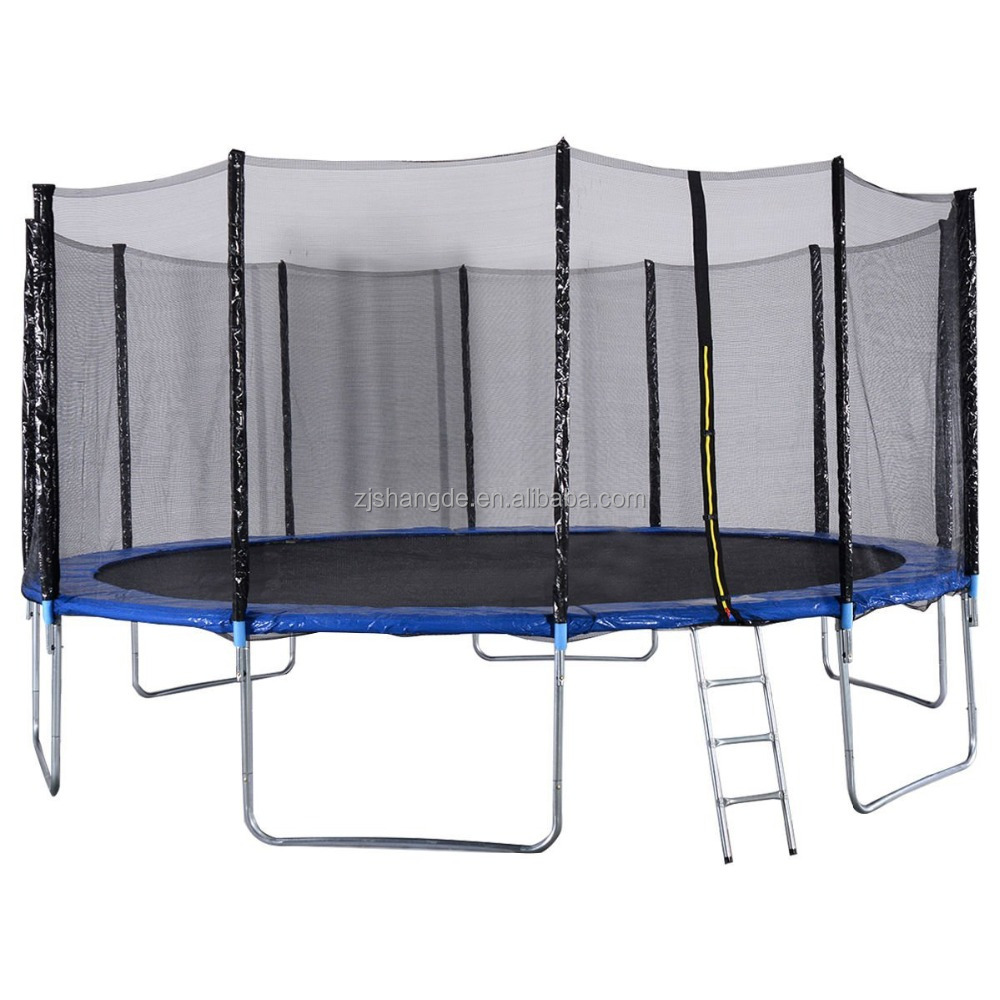 16ft Big trampoline is cheap big trampoline for sale and Trampoline Combo Bounce Jump Safety Enclosure Net W/Spring Pad Ladder