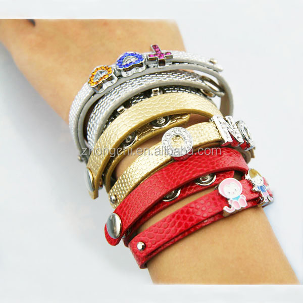 Slide Charm Bracelet 8mm Diy Leather Factory Jewelry