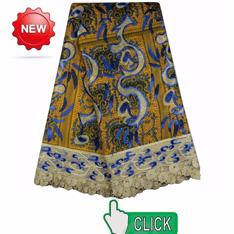 African Lace/African French Lace fabrics With Sequins 0321-3