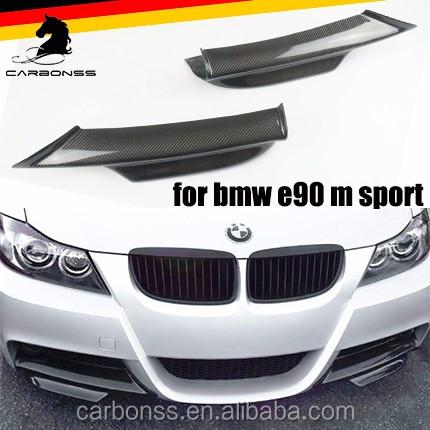 CARBON FIBER FRONT BUMPER SPLITTERS FOR BMW E90 E91 LCI 3 SERIES M TECH BUMPER