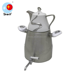 [SHINY] Eco-friendly 130 5.0L Stainless Steel Twin Kettles with Tea Pot Set