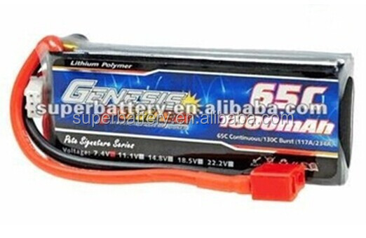 7.4V 2S 65C high energy density 1800mAH toy airsoft gun lithium polymer battery pack