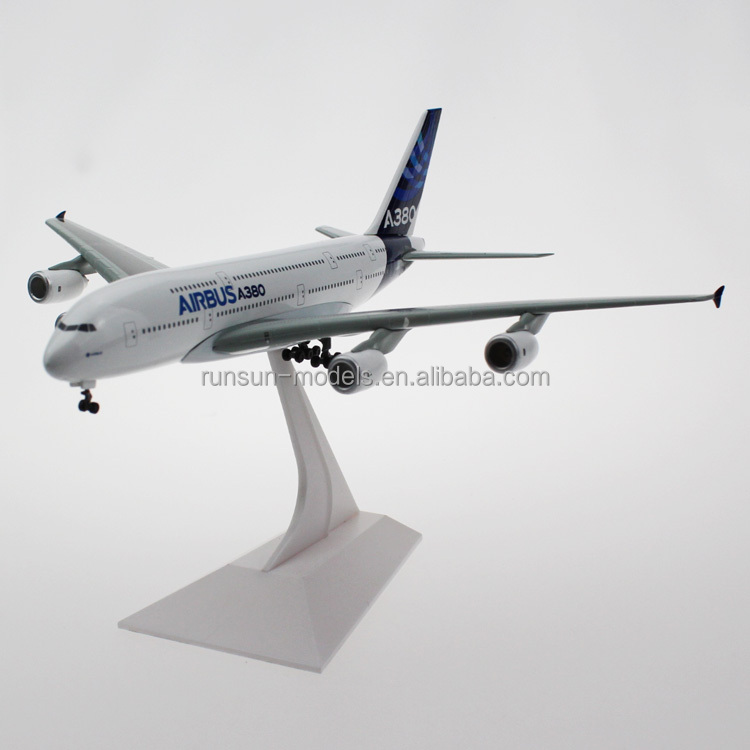 1:400 scale Airbus A380 die cast airplane model