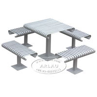 (TB02) outdoor steel camping table, stainless steel table and chairs