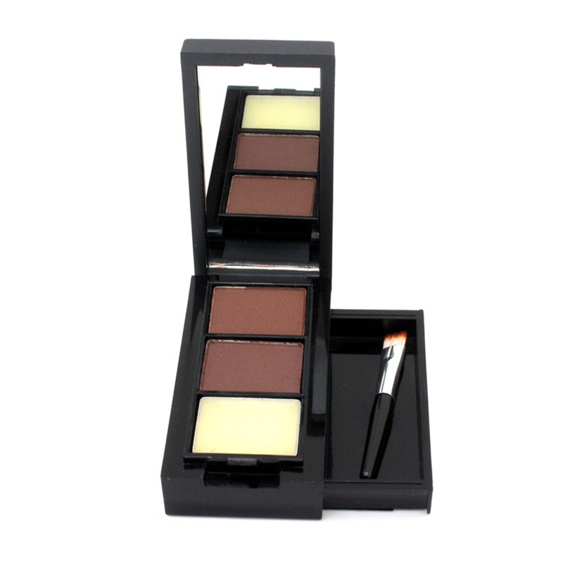 Hot Sale Professional <strong>Eye</strong> Shadow <strong>Eye</strong> Brow Makeup 2 Color Eyebrow Powder + Eyebrow Wax Palette + Brush