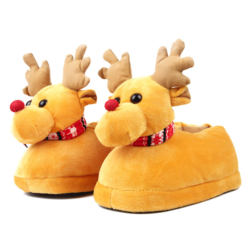 Deer Children Slippers Girls Boys Home Shoes Winter Indoor Warm ...
