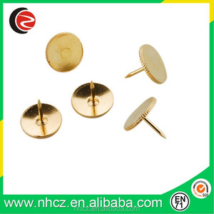 Golden Flat Safety Push Pin