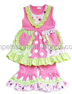 Summer Outfits 2017 Pink Children Frocks Designs Top And Ruffle Pants Chinese Clothing Manufacturers Pretty Newborn