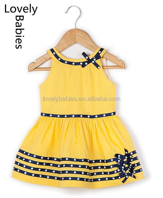 f60086ebb7e3 Baby girl dress patterns 2016 fancy cotton frocks sleeveless designs dress