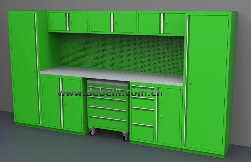 Armoire De Rangement Garage Verrouillable Boite En Metal Armoire A