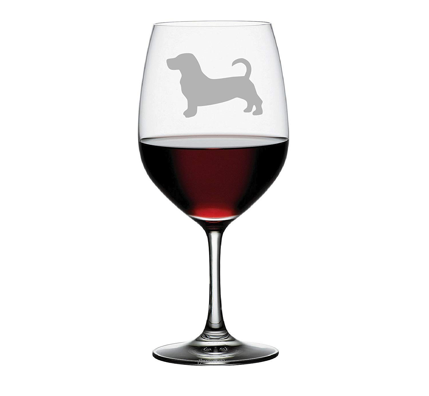 Basset Hound Etched Stemless Wine glass, Pint Glass, Stemmed wine Glass, Rocks glass, Pilsner or Nonic Pint glass