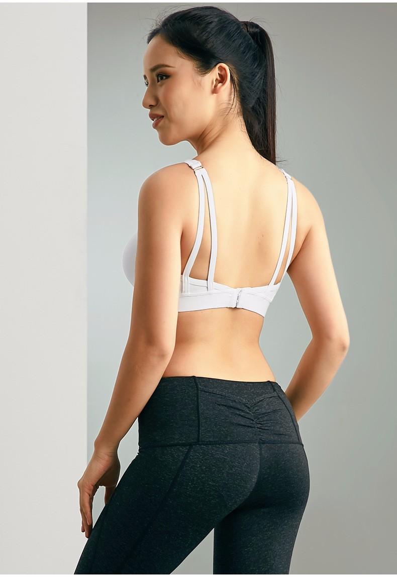 Sweat Seamless Sports Bras, Women Wirefree Padded Yoga Bra Underwear ,Athletic Vest Gym Fitness Running Tank Tops 8