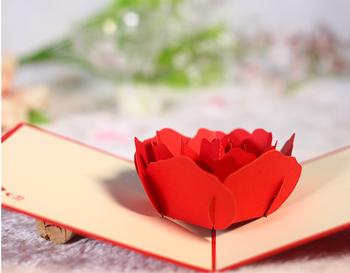 3d diy papercraft big red rose shapeanniversary valentine lovers 3d diy papercraft big red rose shapeanniversary valentine lovers wedding greeting cards mightylinksfo