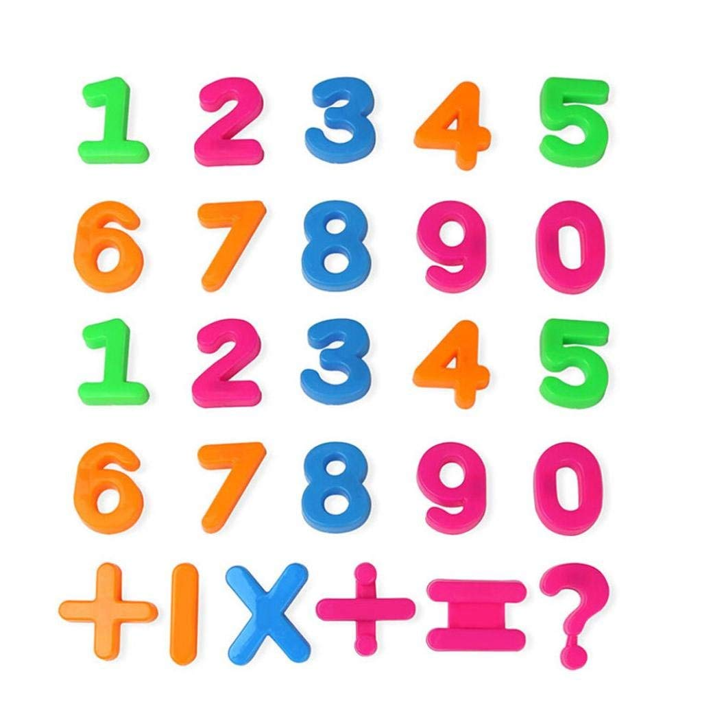 Dreamyth Numbers game toys, 26 Numbers Math blackboard Blocks Magnet Educational Intelligence Baby Toy (Multicolor A)