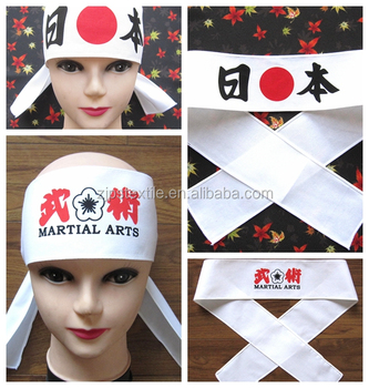 custom traditional japanese festival hachimaki cotton headbands with