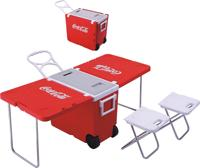 Plastic outdoor camping ICE cooling boxes with table folded cooler box with stool cooler box picnic table