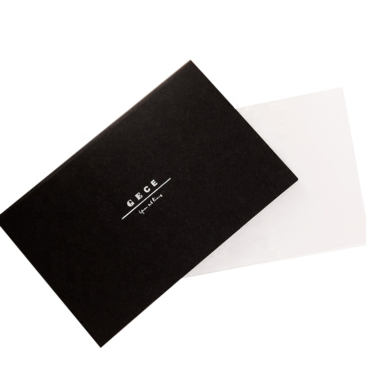 Exclusive Folded black paper ID card printing ,custom business card paper , greeting card paper manufacturer