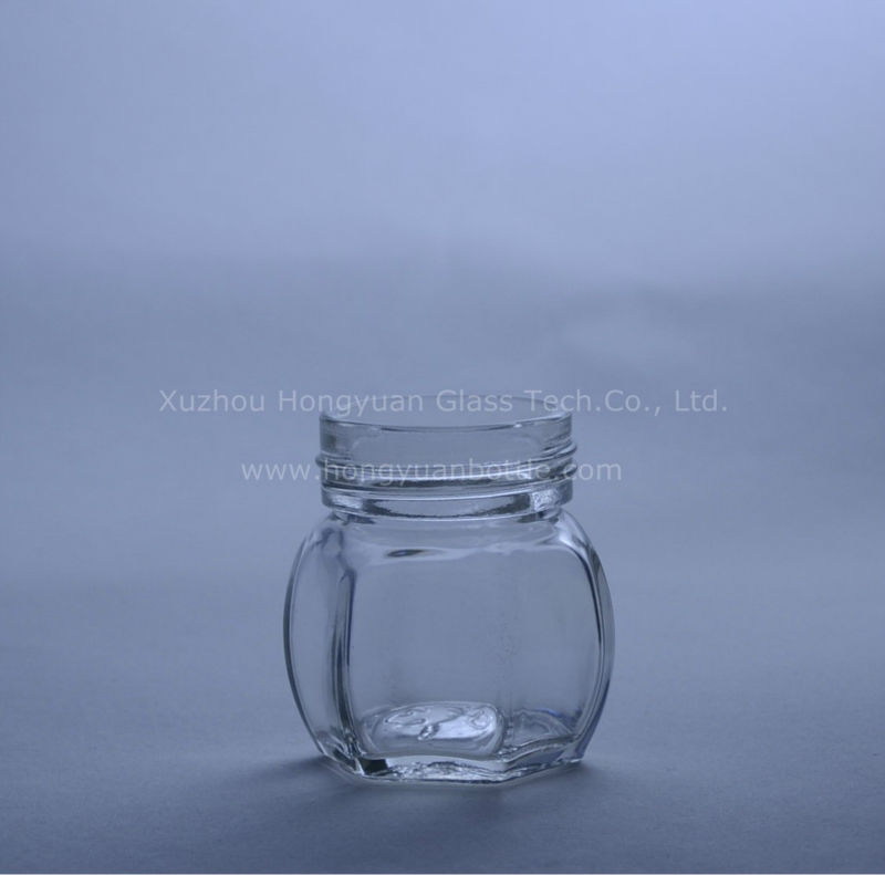 150ml hexagonal shaped glass honey jars