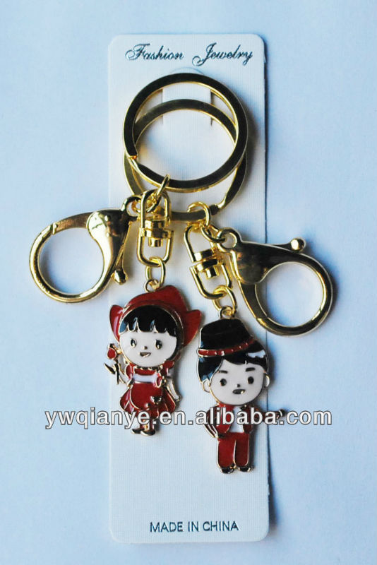 Lovely couple keyholder,wedding gift keychain,promotion lover keychain