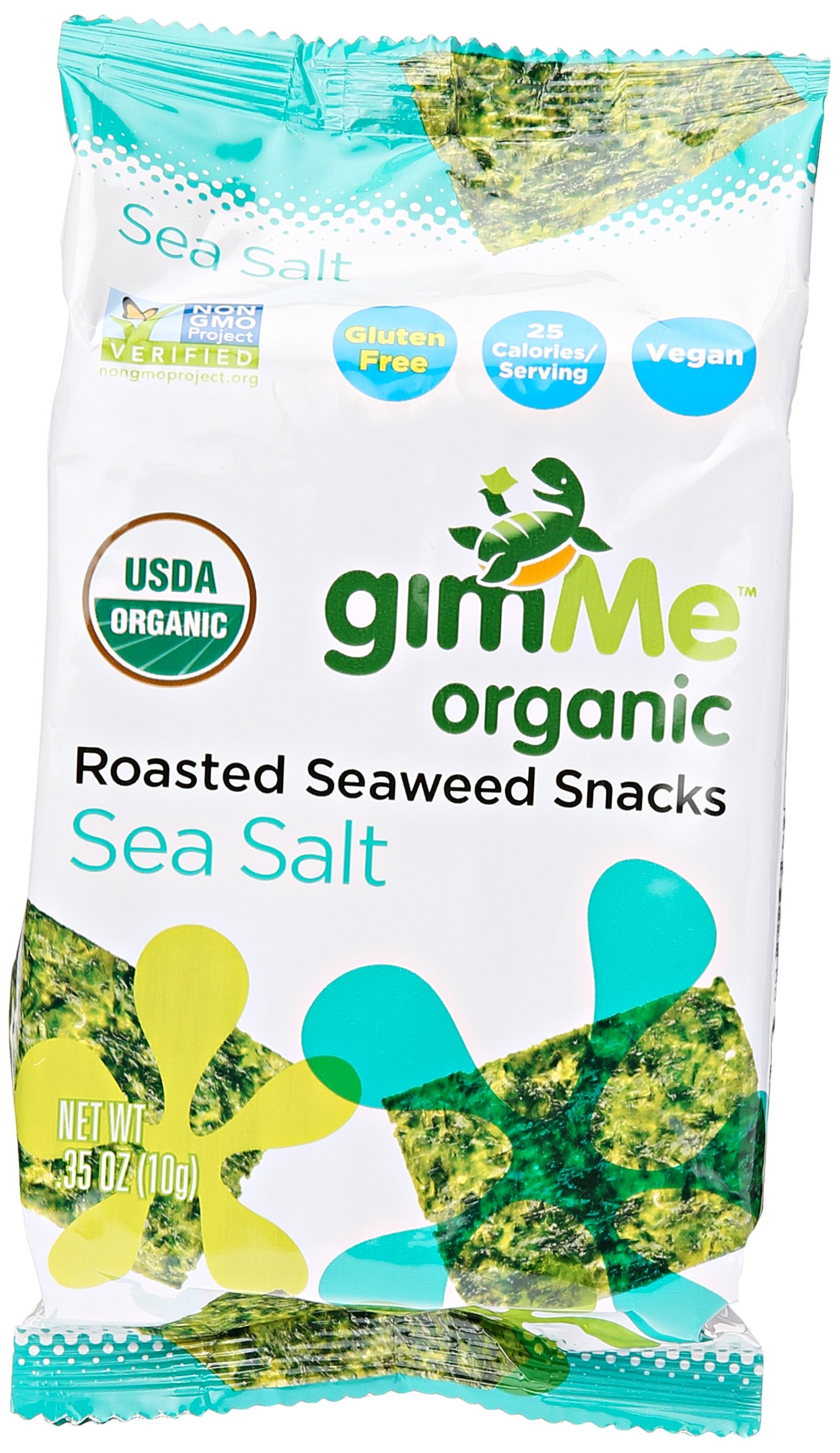 Gimme Health Foods Sea Salt Organic Roasted Seaweed Snacks, 0.35 oz