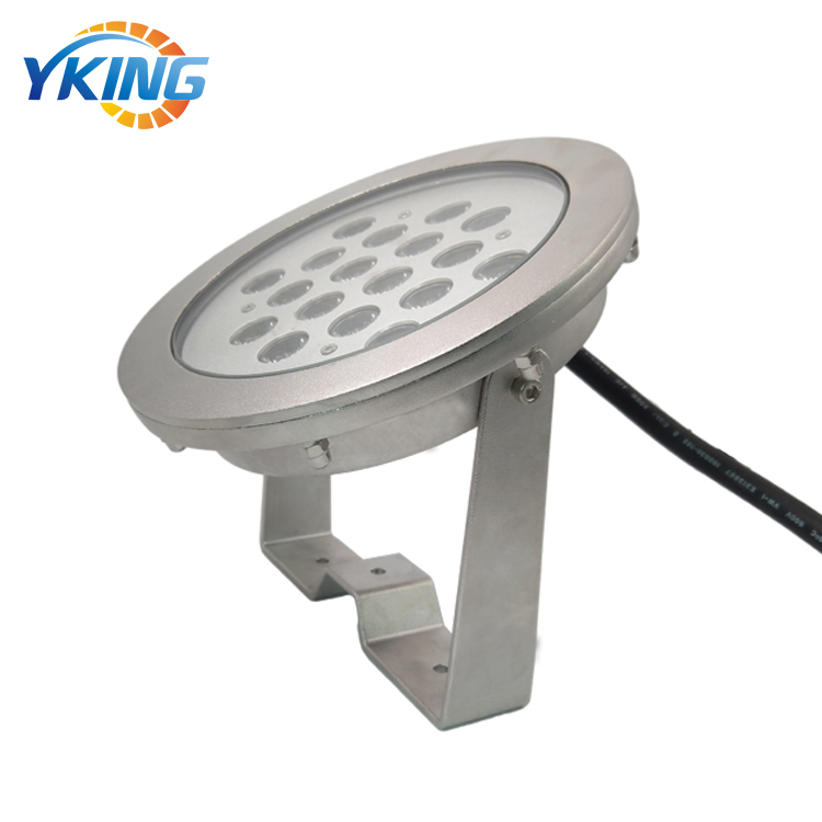 316 Stainless Steel IP68 waterproof RGB 24 volt underwater fountain light