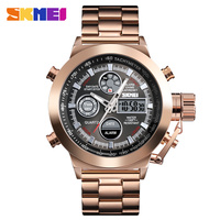 skmei 1515 luxury custom rose gold watch with stainless steel band big dial