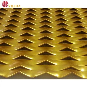 Plastic coated iron expanded sheet metal mesh for decorative ceiling or walls