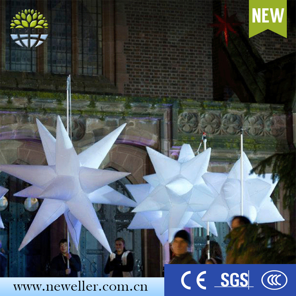 Costume inflatable led decoration hanging inflatable star for AD