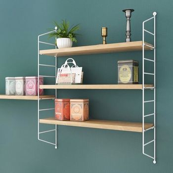 Wall Shelves With Metal Diy Ladder Adjustable Bedroom Bathroom - Buy Black  Wall Mounted Shelves,Bedroom Wall Racks Black Wall Mounted Shelves,Black ...