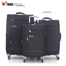 2018 high quality nylon hot sale waterproof set of suitcases/3pcs trolley luggage set