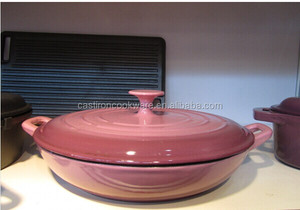 European Enamel Coated Cast Iron Cookware , Cast Iron Casserole