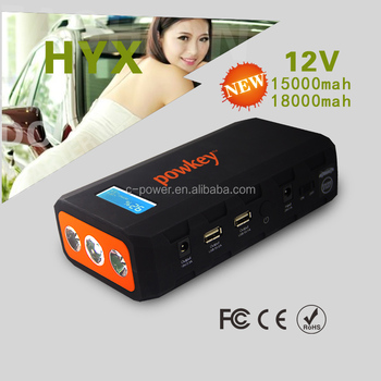 Ip 65 waterproof material 2016 High power capacity battery source pack charger vehicle engine booster 12v car jump starter