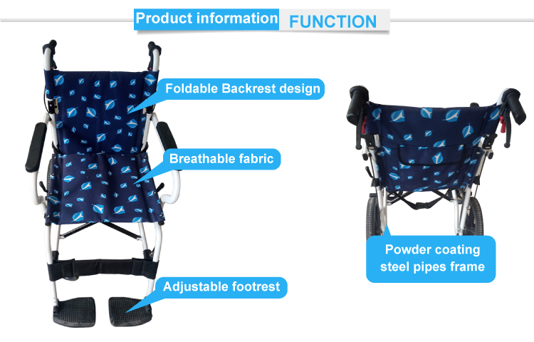Used adjustable seat manual wheelchair for disabled people ML-17S