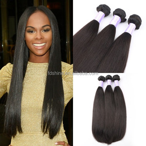 Brazilian hair weft silky straight 3 pieces/lot 100% natural raw virgin hair low price human hair