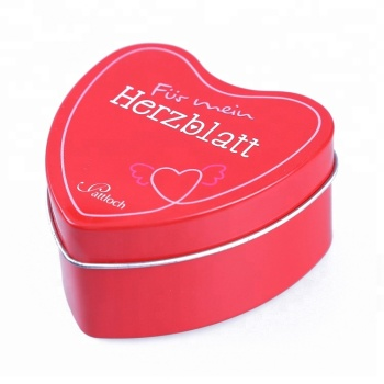 Beautiful jewelry tin box,heart shape gift tin boxes
