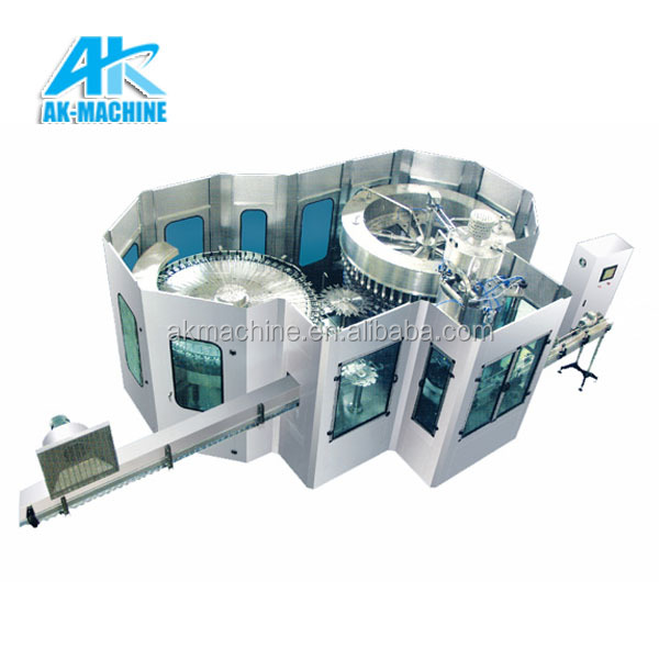 Automatic spring / mineral water bottling plant Pet beverage bottle liquid washing filling capping machine