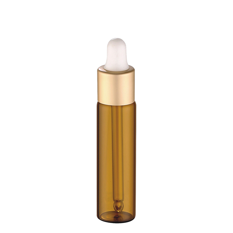 3ml 5ml 8ml cosmetic packaging tube amber glass bottle with  dropper
