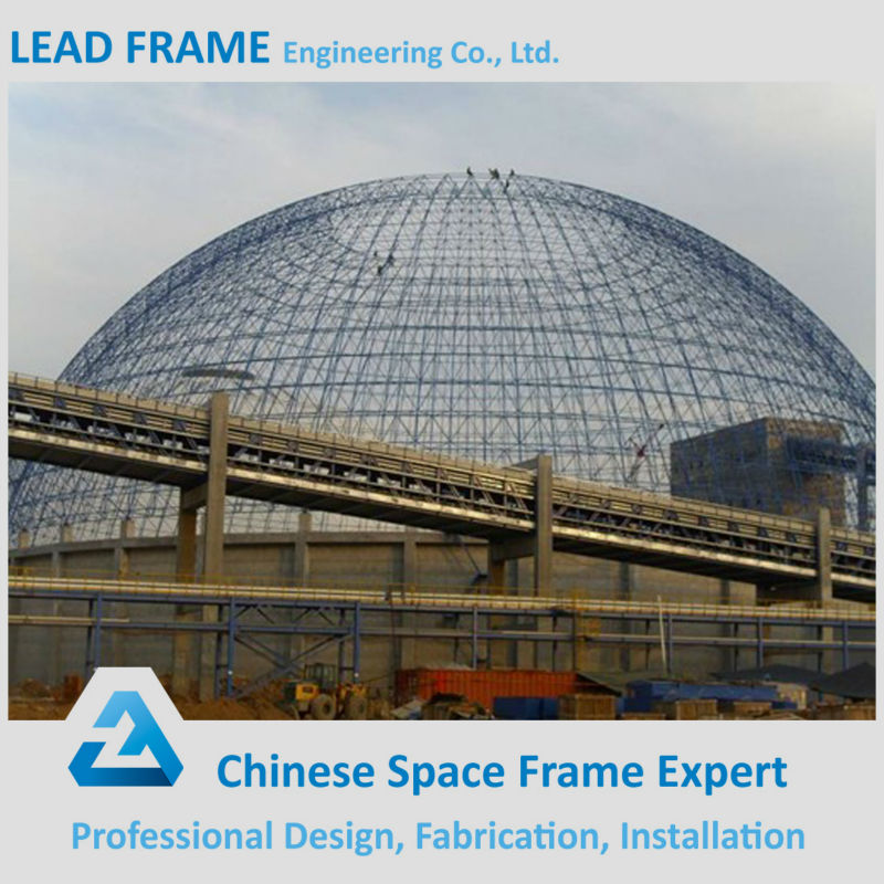 wide span dome industrial shed steel structure