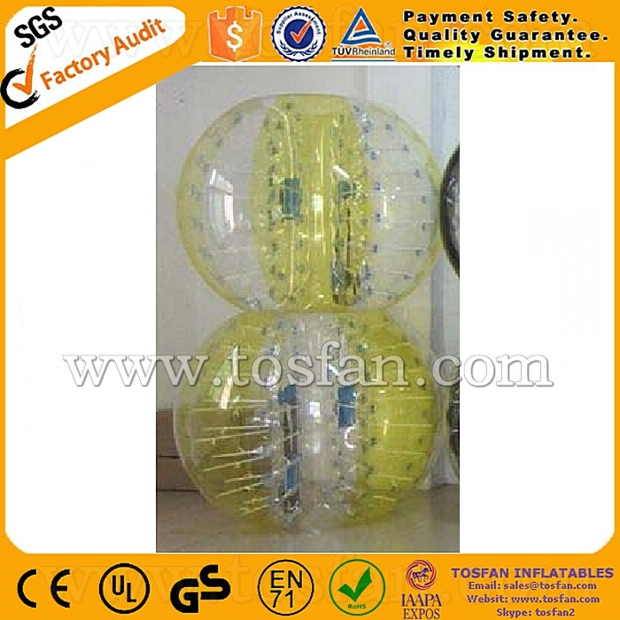Customized color PVC/TPU inflatable soccer bubble TB055