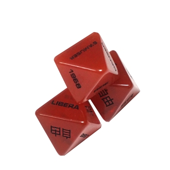Factory Custom Logo Polyhedral  D8 Sided Plastic Dice