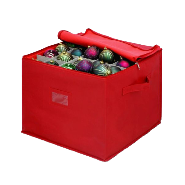 top zipper canvas red ornament ball organizerhousehold christmas ornament storage box bag with handle buy christmas ball organizerchristmas cristal ball - Christmas Decoration Storage Box