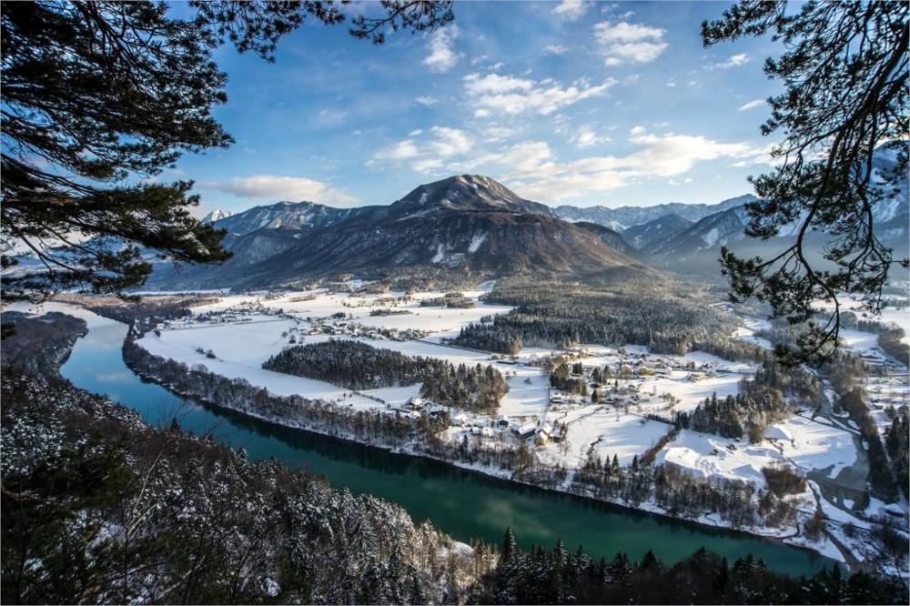 nature landscapes mountains <font><b>winter</b></font> rivers 4 Sizes <font><b>Home</b></font> <font><b>Decoration</b></font> Canvas Poster Print