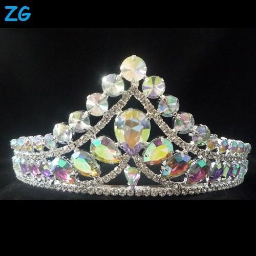 تيجان ملكية  امبراطورية فاخرة Fashion-AB-Wedding-Crowns-AB-Crystal-Metal