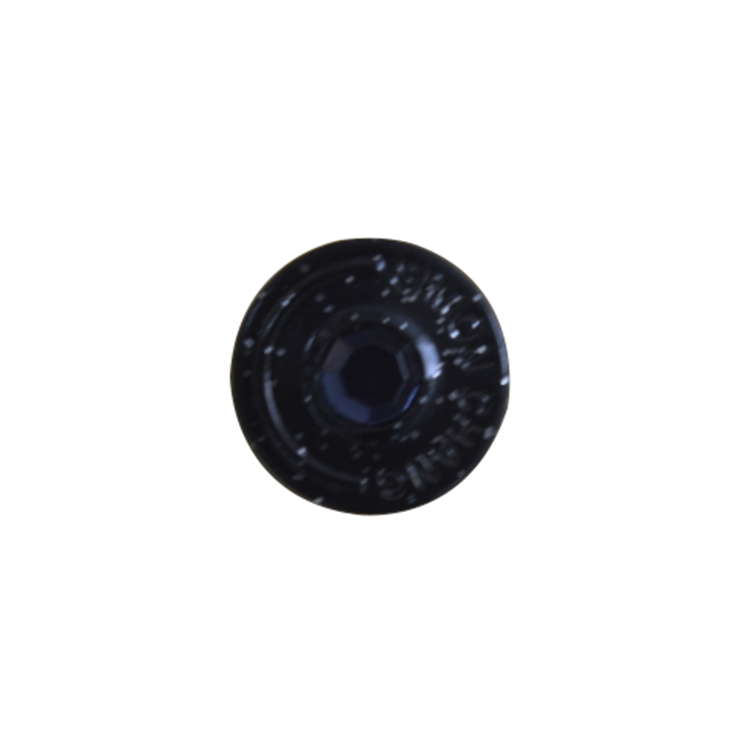 Factory Direct Sale Diamond stone rounded snap button for jeans