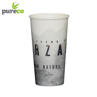 Well Designed custom printing plastic reusable coffee cup