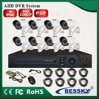 8ch ahd dvr system 1080p hd camera kit 8 outdoor cameras home security system Quality Low price