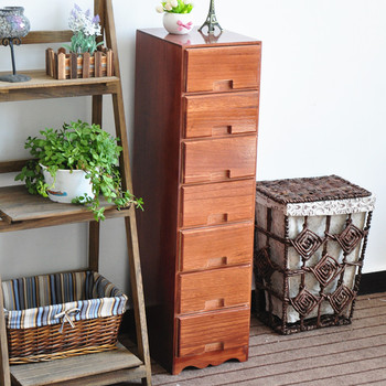 Multi Layer Drawer Type Wood Storage Cabinet