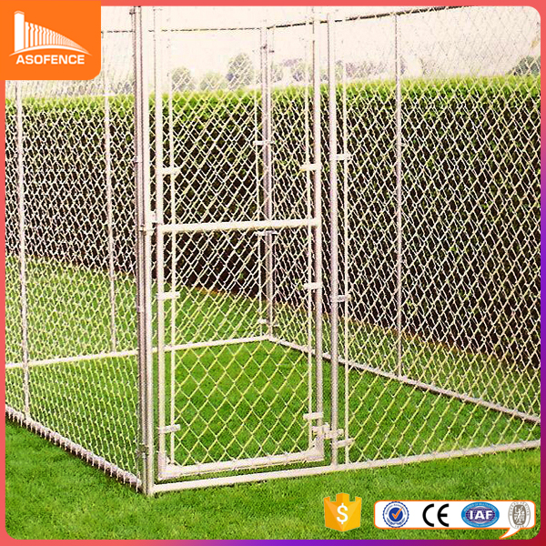 Factory galvanized cheap large chain link dog kennels wholesale